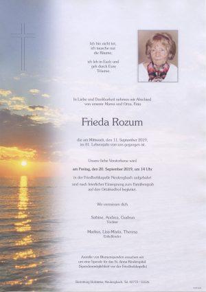 Portrait von Neulengbach – Frau Frieda Rozum