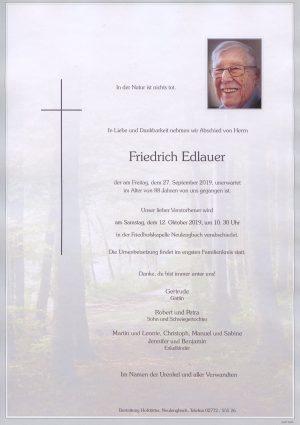 Portrait von Neulengbach – Herr Friedrich Edlauer
