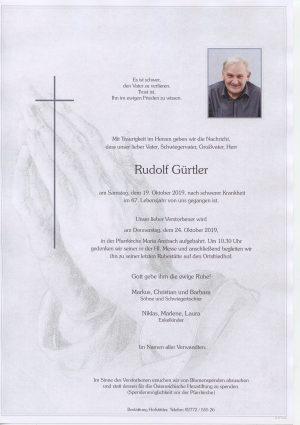 Portrait von Maria Anzbach – Herr Gürtler Rudolf