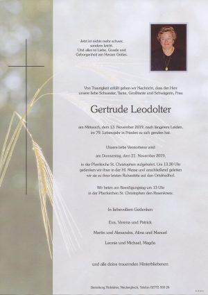 Portrait von St. Christophen – Frau Gertrude Leodolter