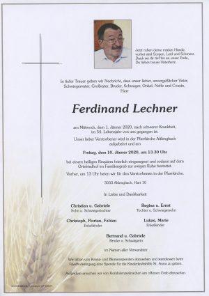 Portrait von Altlengbach – Herr Ferdinand Lechner