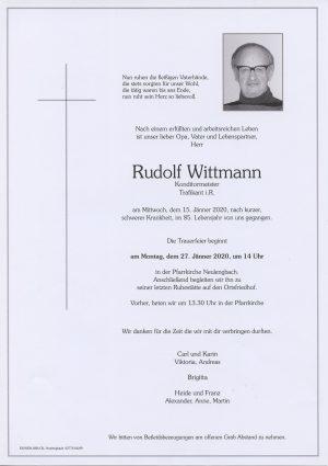 Portrait von Neulengbach – Herr Rudolf Wittmann