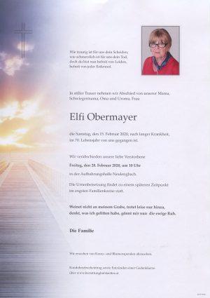 Portrait von Neulengbach – Frau Elfriede Obermayer