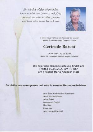 Portrait von Maria Anzbach – Frau Gertrude Barent