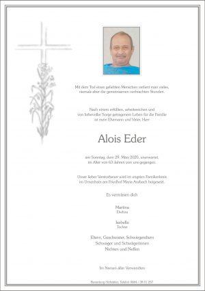 Portrait von Maria Anzbach – Herr Alois Eder