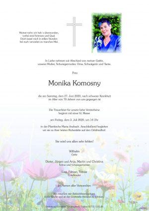 Portrait von Maria Anzbach – Frau Monika Komosny