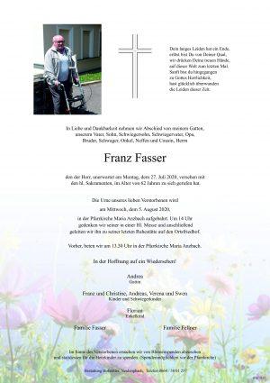 Portrait von Maria Anzbach – Herr Franz Fasser