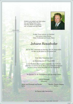 Portrait von Brand Laaben – Herr Johann Kraushofer