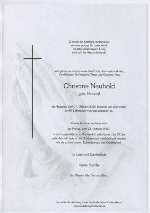 Portrait von Markersdorf – Frau Christine Neuhold
