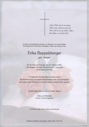 Portrait von Markersdorf – Frau Erika Rappelsberger