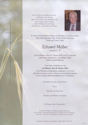 Portrait von Neulengbach – Herr Eduard Müller