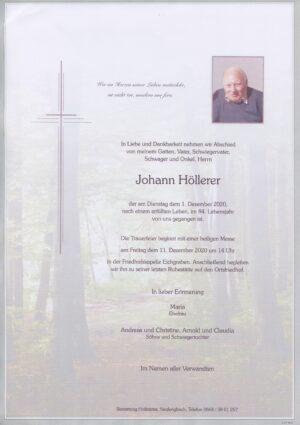 Portrait von Friedhofskapelle Eichgraben – Herr Johann Höllerer