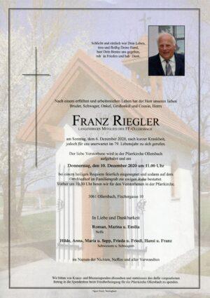 Portrait von Ollersbach – Herr Franz Riegler