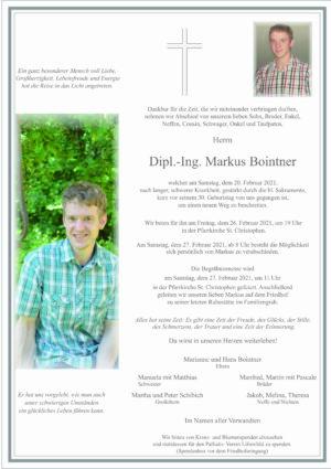 Portrait von St. Christophen – Herr Dipl. – Ing. Markus Bointner