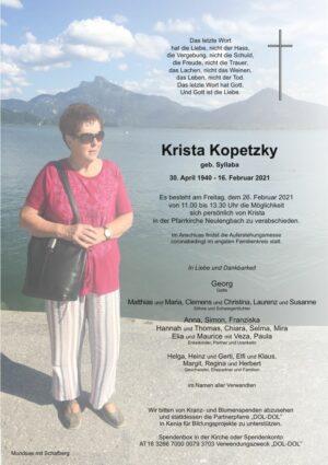 Portrait von Neulengbach – Krista Kopetzky