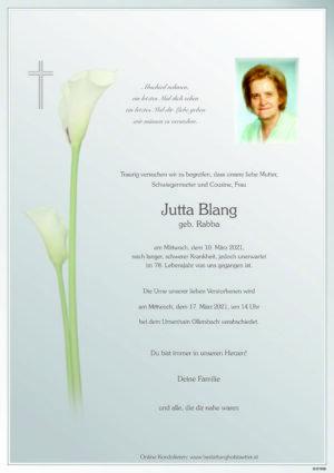 Portrait von Ollersbach – Frau Jutta Blang