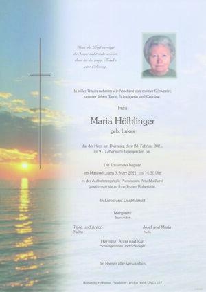 Portrait von Pressbaum – Frau Maria Hölblinger