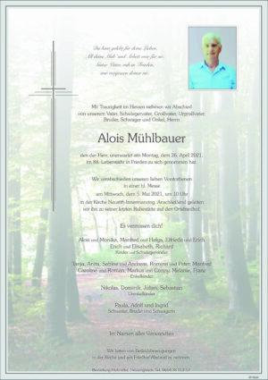 Portrait von Neustift-Innermanzing- Herr Alois Mühlbauer