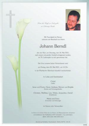 Portrait von Ollersbach – Herr Johann Berndl