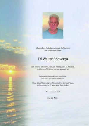 Portrait von Traun – Herr DI Walter Radvanyi