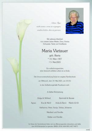 Portrait von Pressbaum – Frau Maria Vitauer