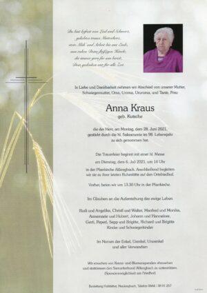 Portrait von Altlengbach – Frau Anna Kraus