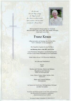 Portrait von Altlengbach – Herr Franz Kraus