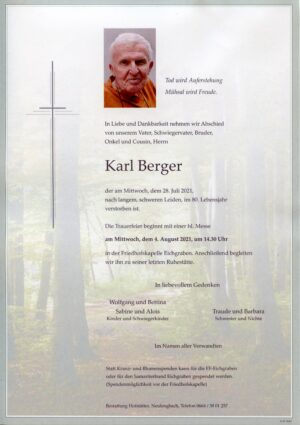 Portrait von Eichgraben – Herr Karl Berger