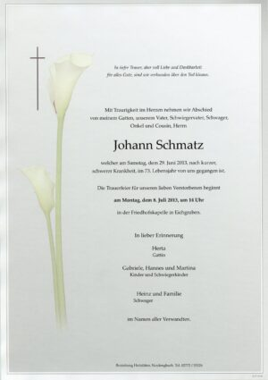 Portrait von Eichgraben – Herr Johann Schmatz