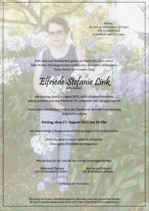 Portrait von Neustift-Innermanzing – Frau Elfriede Stefanie Link