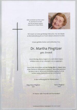 Portrait von Altlengbach – Frau Dr. Martha Pingitzer