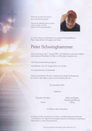 Portrait von Hochstraß – Herr Peter Schwinghammer