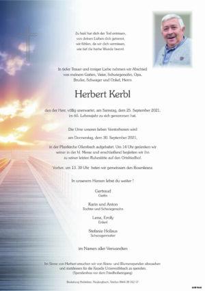 Portrait von Sterbefall – Herr Herbert Kerbl