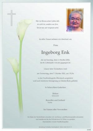 Portrait von Ollersbach – Frau Ingeborg Enk